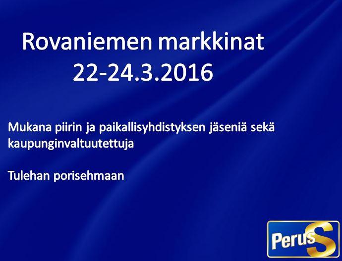 Markkinat 22-24.3.2016