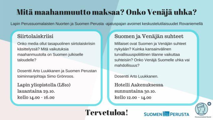 Lapin PS-Nuorten ja Suomen Perustan järjestämät keskustelutilaisuudet(4)